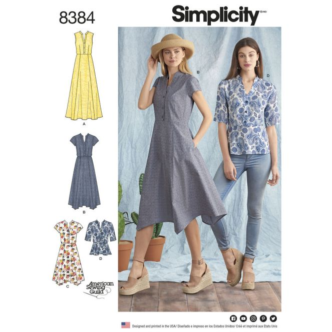 simplicity-shirt-dress-pattern-8384-envelope-front